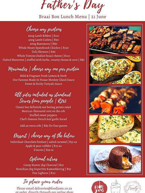 Father's Day Braai Box Lunch Menu