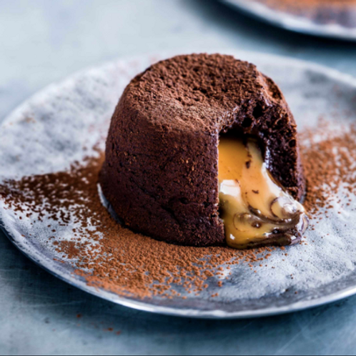 Chocolate Fondant with Salted Caramel