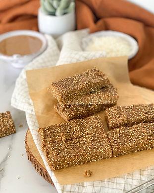 Toasted Quinoa Almond Butter Bars Recipe