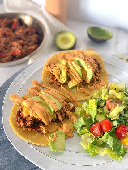 spicy lentill tacos