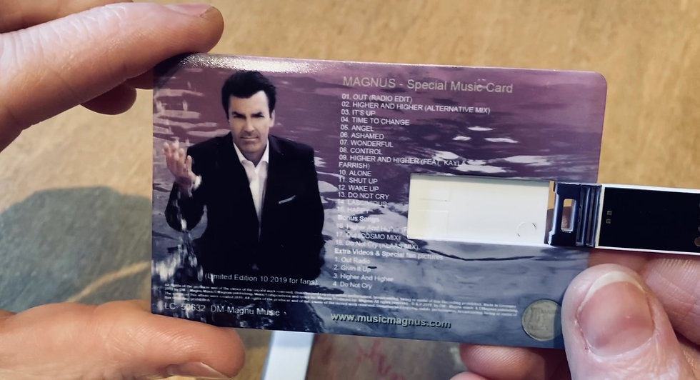 USB MUSIC CARD LIMITED EDITION