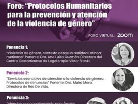 Foro :Protocolos humanitarios para la prevención y atención de la violencia de género.