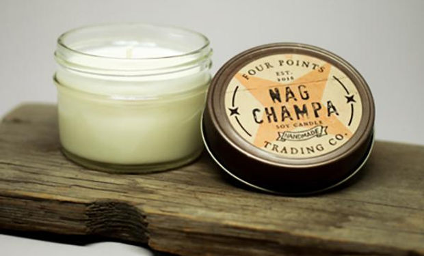 Four Points Candle, Local LA Artisan, Locally Made LA, Nag Champa Candle