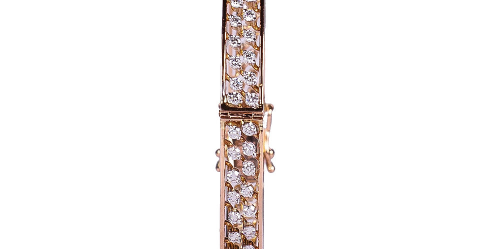 Diamond Studded Clip Pattern Bracelet For Women
