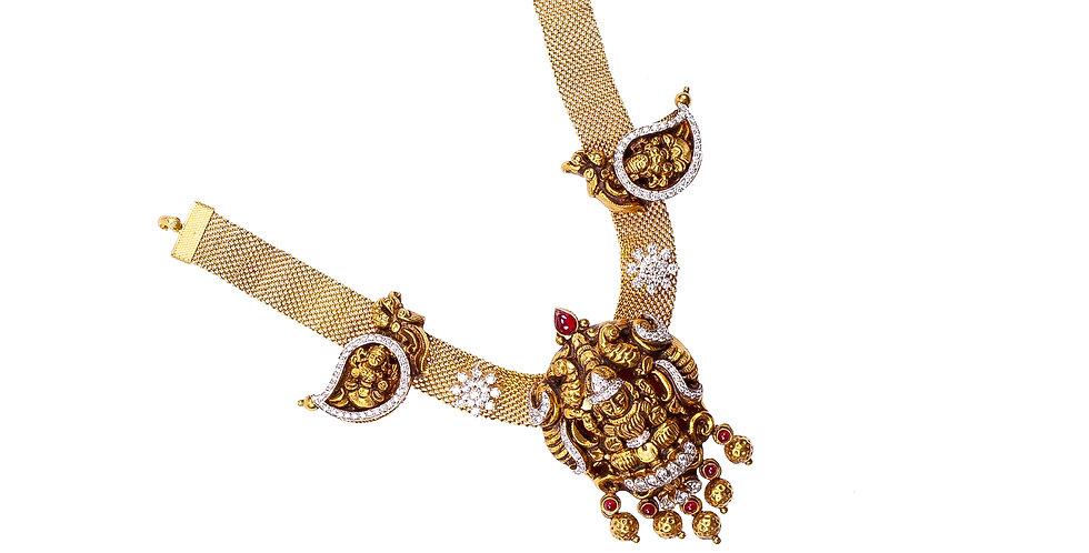 Traditional Temple Style Diamond Choker