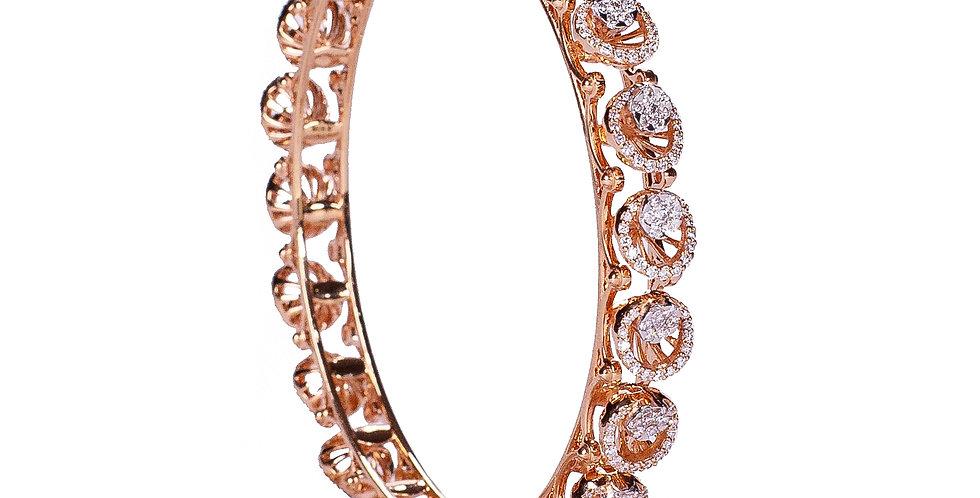 Diamond Studded Gold Bangles For Women