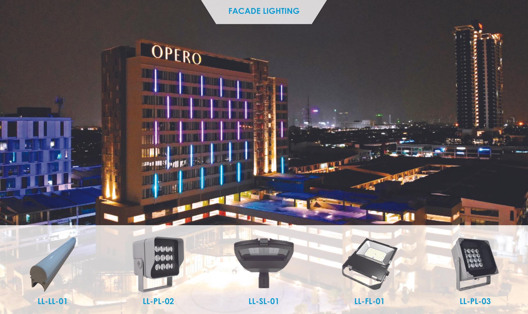 Opero Hotel Facade Lighting