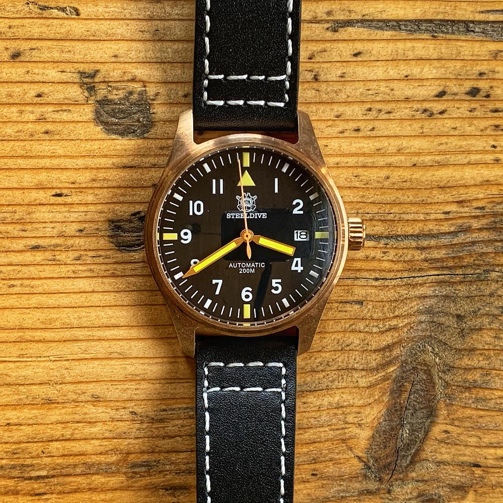 Steeldive SD1948 bronze Flieger