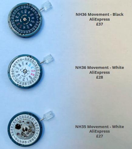 NH35 NH35a NH36 Movements