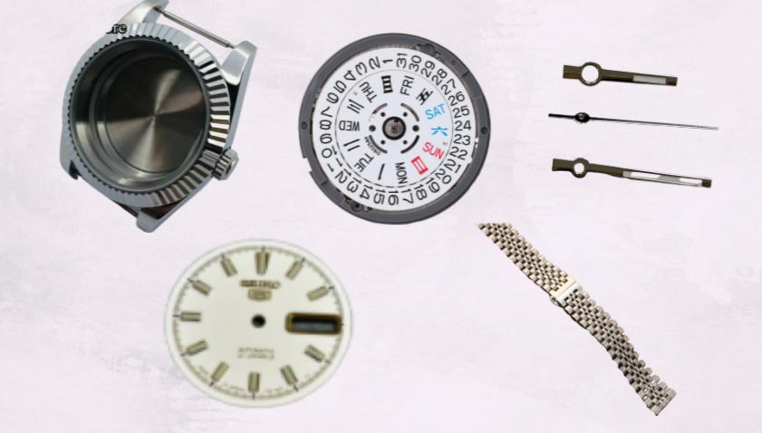 Seiko 5 Rolex Datejust Mod Parts