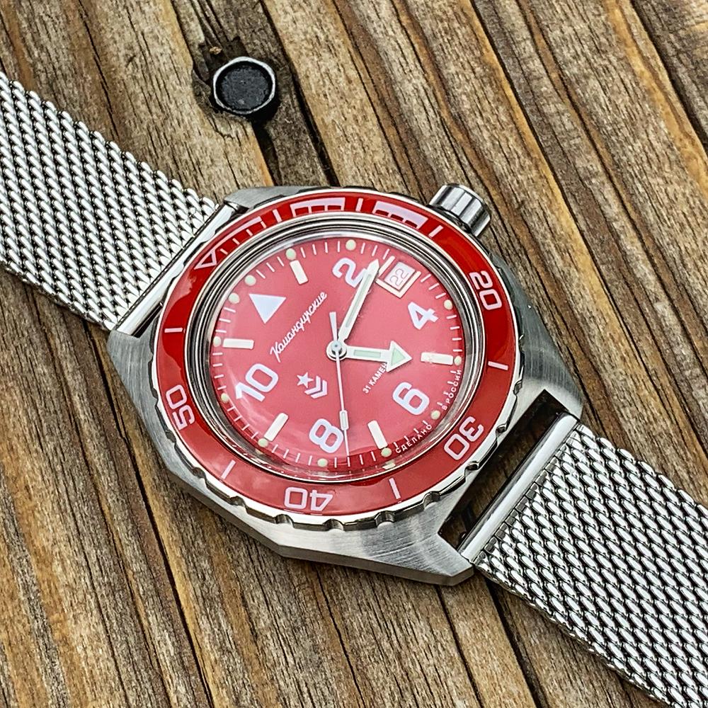 Red dial Vostok Komandirskie 650841