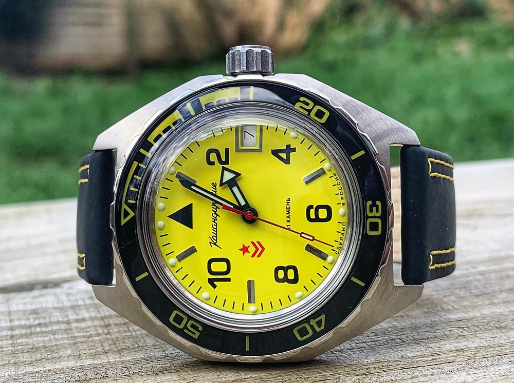 Yellow Dial Vostok Komandirskie 650855
