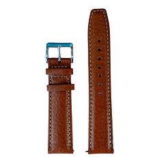 Light Brown Luxury Buffalo Grain Calf Leather Watch Strap