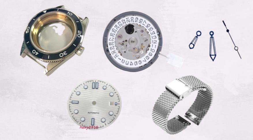 Omega Seamaster Homage Mod Watch Parts