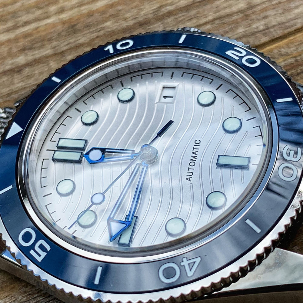Omega Seamaster Homage Mod Face View