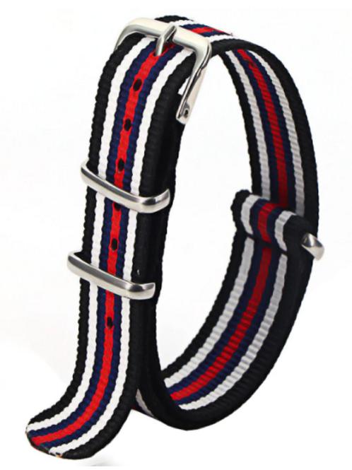 NATO - Black, Navy Blue, Red, White 20mm