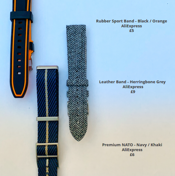 Rubber Leather NATO Watch Straps