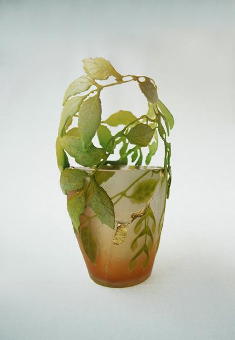Emile Gallé, Nancy, 1910 ca; laser-sintering, lacquer, gold leaf; 2014