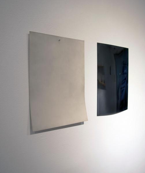 A4, silver mirror; 2012