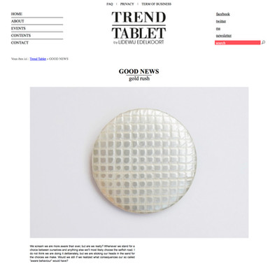 Gold Rush on Trend Tablet   Lidewij Edelkoort; interview by Cécile Cremer, Wandering The Future; 2017