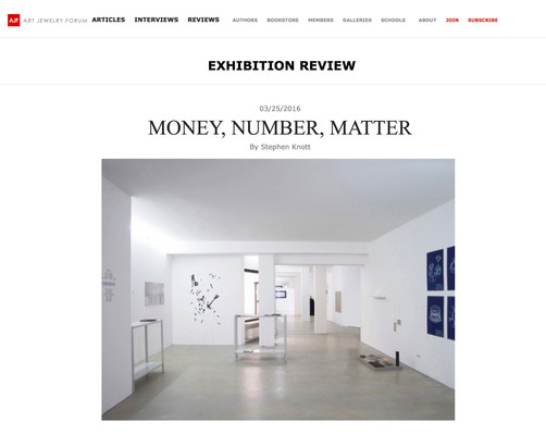 (IM)PRINT, co-curated exhibition on Art Jewelry Forum; 2016