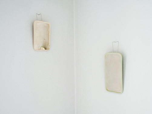 Vanity mirror; silver, jade stone; 2012