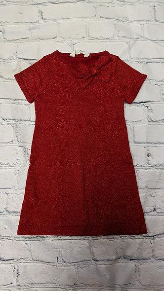 Robe rouge brillant H&M grandeur 3-4