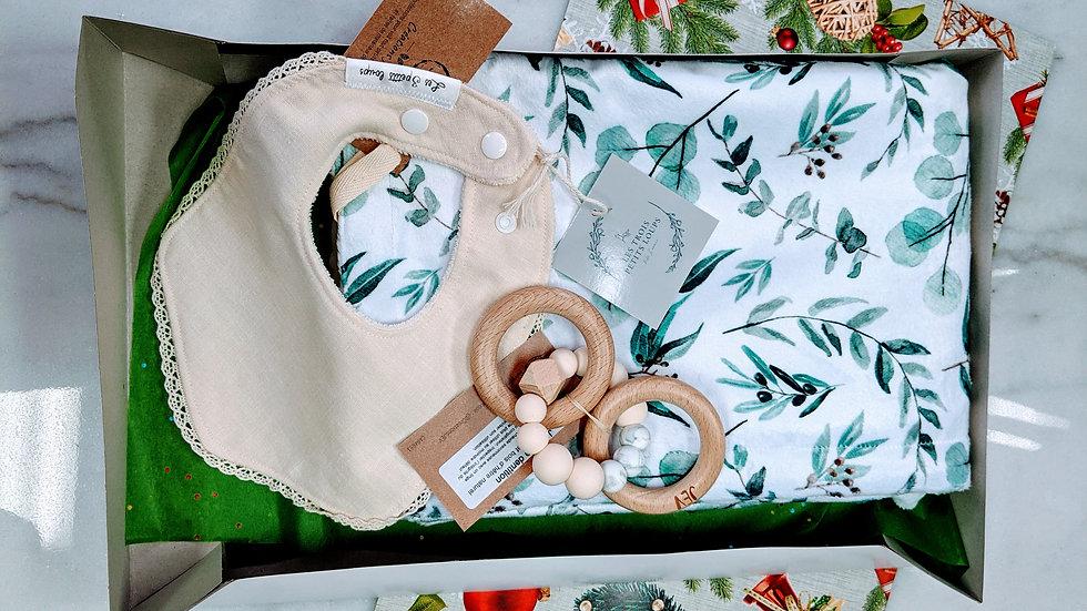 Boîte cadeau bébé de luxe eucalyptus (valeur de 82 $)