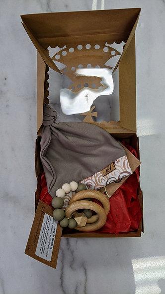 Boîte cadeau de naissance unisexe (avec certificat cadeau)
