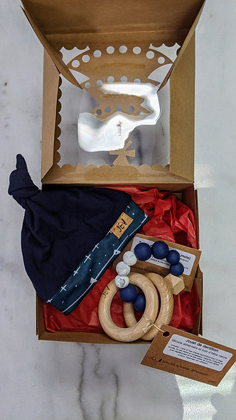 Boîte cadeau de naissance garçon (valeur de 35 $)