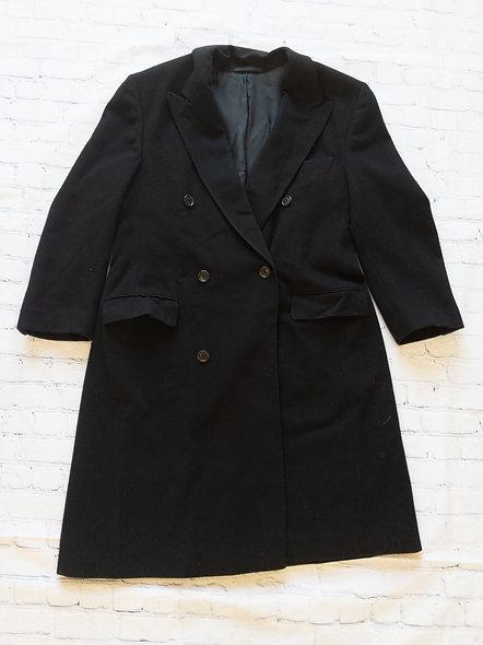 Manteau en laine noir Hugo Boss taille 40 (large)