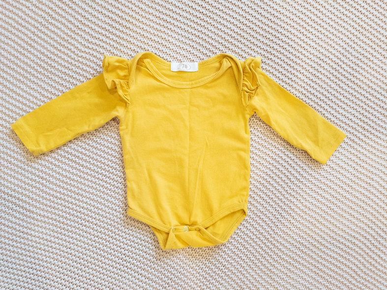 Superbe cache-couche moutarde 3-6 mois