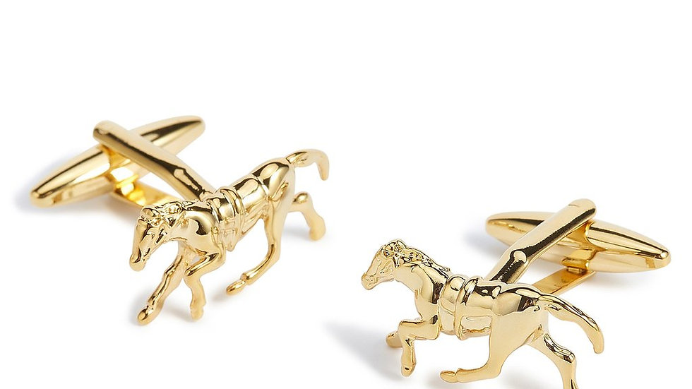 Racehorse Cufflinks - Gold or Silver