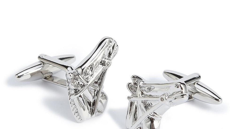 Horse Head Silver Cufflinks
