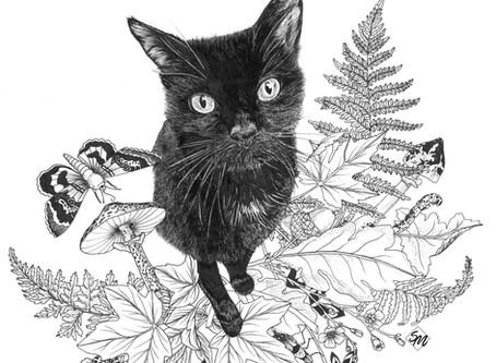 Botanical Pet Portrait Commission