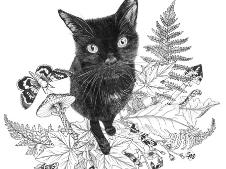 Botanical Pet Portrait Commission