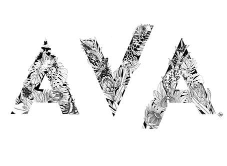 Custom Name Illustration for Ava
