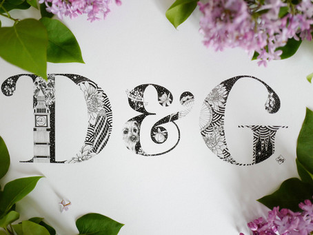 D&G Wedding Gift Monogram