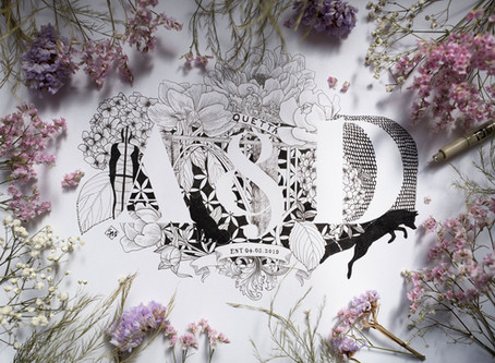 A&D Wedding Monogram Illustration