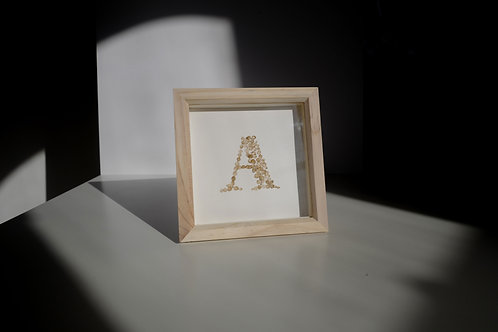 Real Petal Letters - Framed