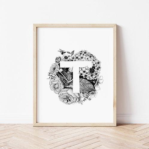 Custom Single Letter Illustration - Illustration Style: Outside the Letter