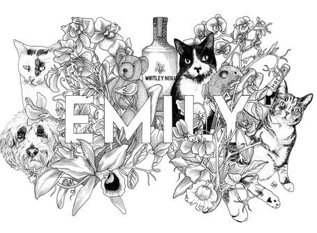 Custom Illustration for a Special Birthday Gift