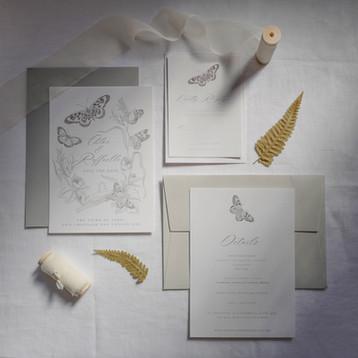 Butterfly Wreath Suite (Grey)