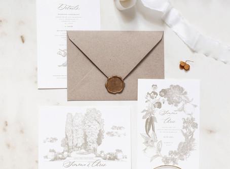 Personalised Illustrated Wedding Invitations for a Postponed Italian Wedding (Covid-19)