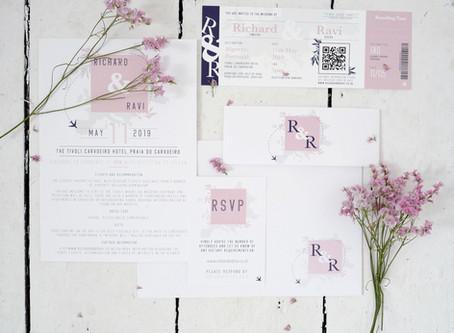 Custom Wedding Stationery for Destination Wedding