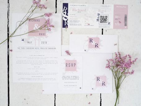 Custom Wedding Stationery for Destination Wedding
