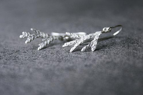 """Silberohrhänger """"Weiße Weihnacht"""""""