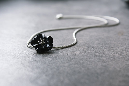 """Collier """"Onyx-Blüte"""""""