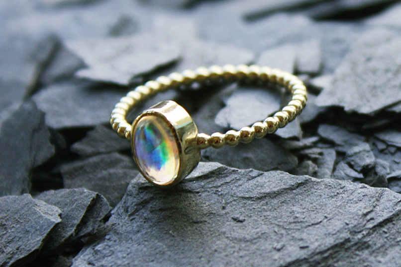 """Opal-Ring """"Zweiter Blick"""""""
