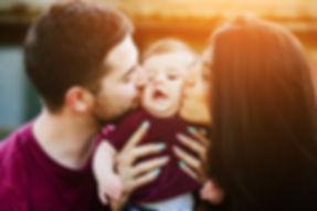 parents amour câlin bisous se préparer